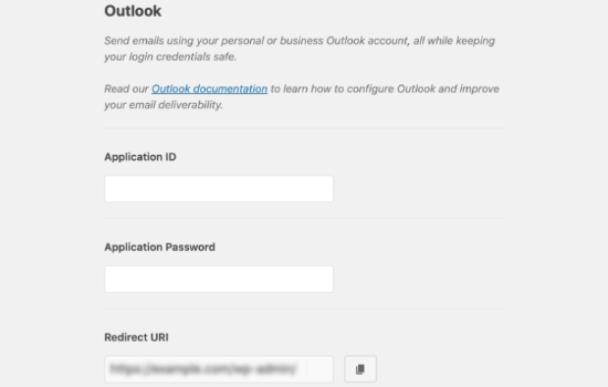 Outlook Settings in WP Mail SMTP