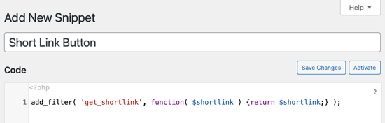 Copy and Paste the Code Snippet Into the Code Box
