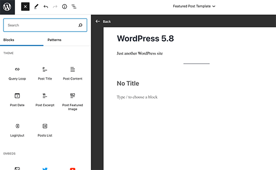 Template editor mode