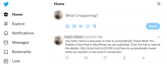 Automatically share Tweets when publishing new post