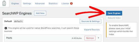 Save default SearchWP engine