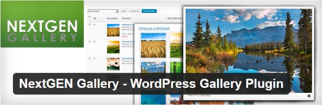 NextGEN Gallery WordPress photo gallery plugin