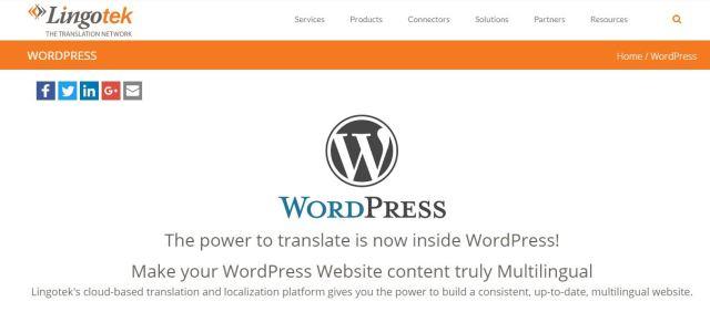 Lingotek Translation WordPress multilingual plugin