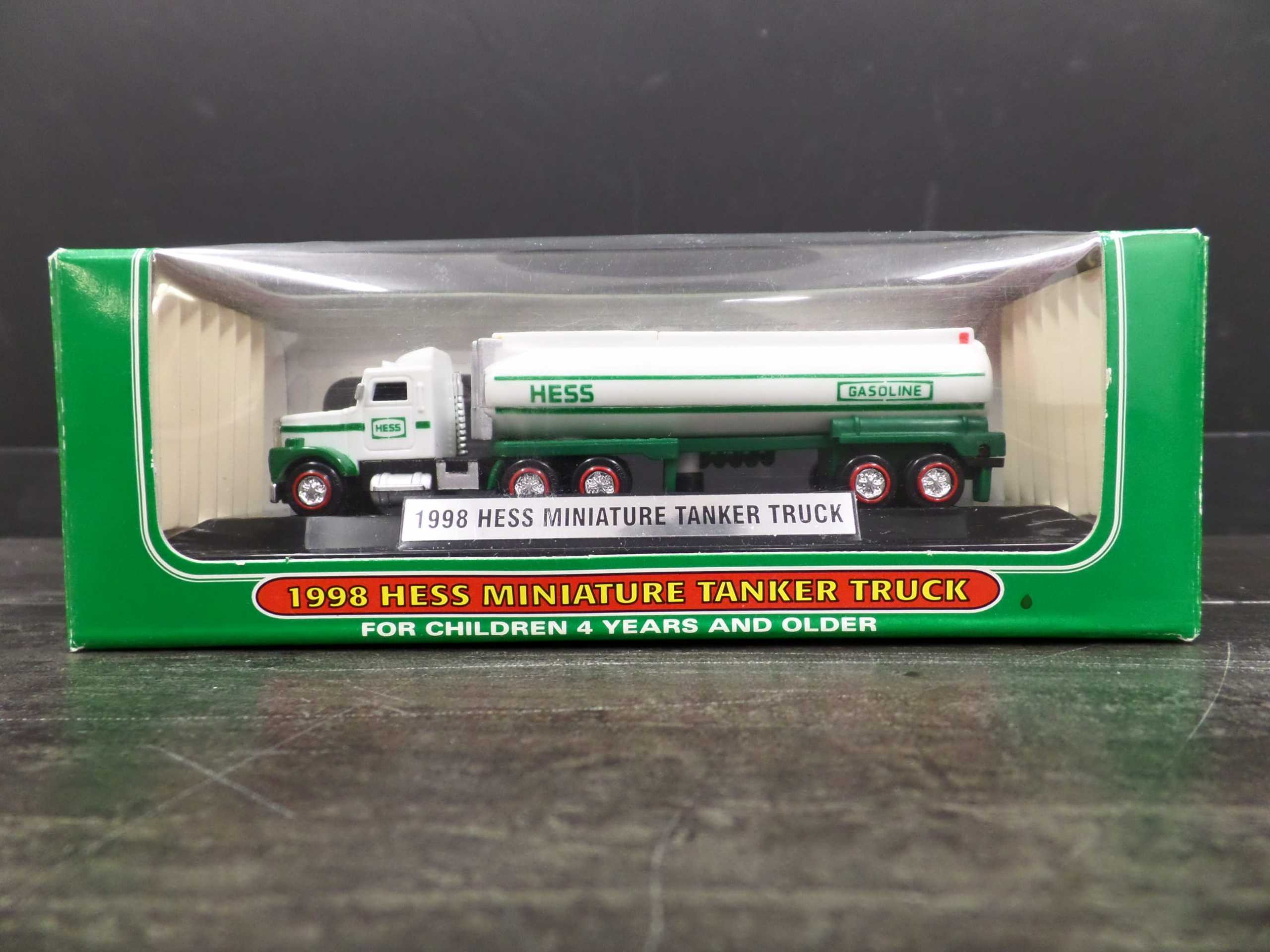 1998 MINI HESS TANKER TRUCK <br/> Donated by: WPBS SUPPORTER <br> Valued at: $74
