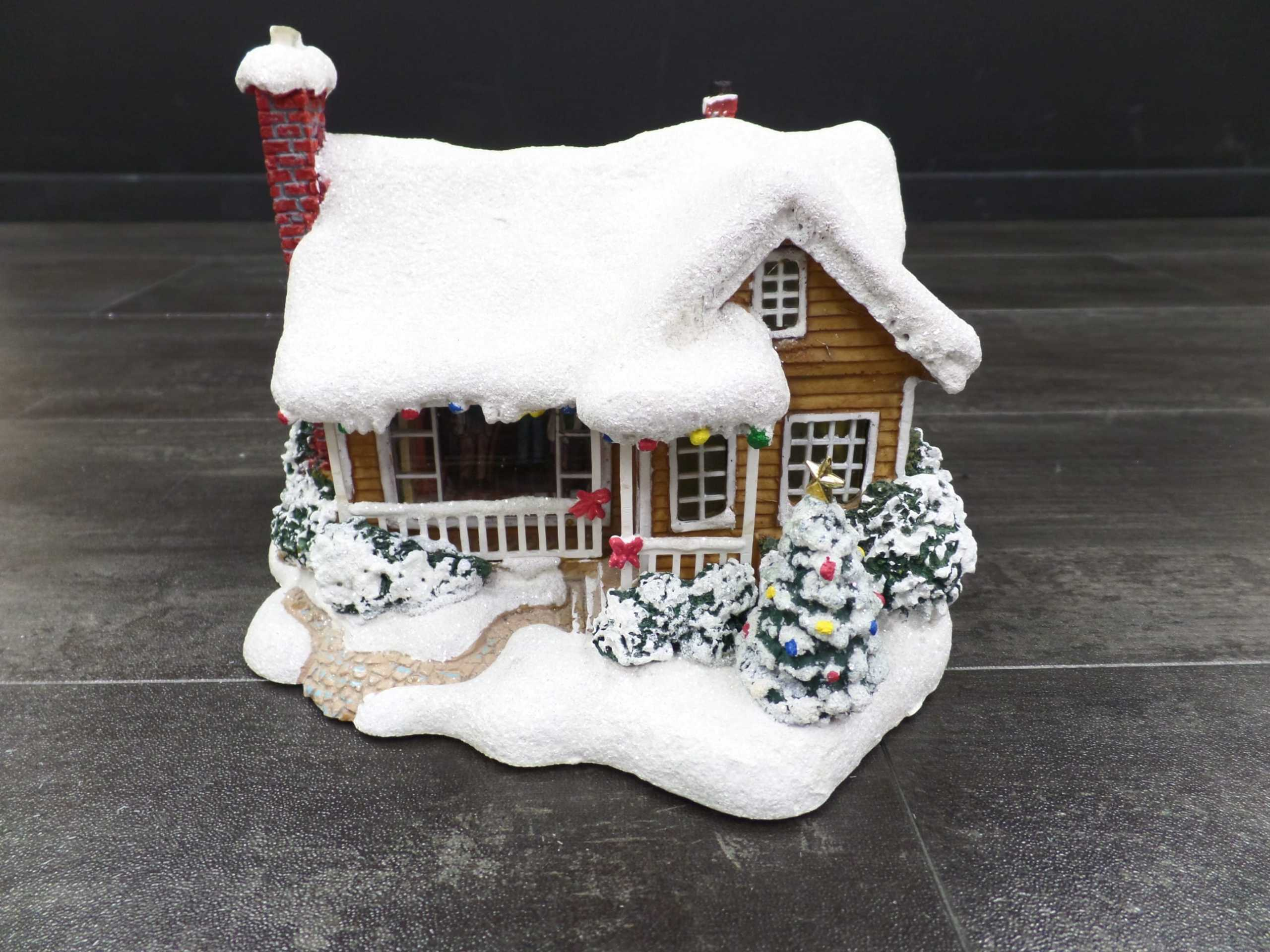 2008 THOMAS KINKADE CHIRSTMAS VILLAGE HOUSE <br/> Donated by: WPBS SUPPORTER <br/> Valued at: $46 <br/> Buy It Now: $36