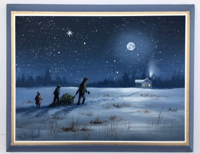"""A CHRISTMAS MEMORY"" OIL PAINTING <br/> Donated by: WILSON BICKFORD STUDIOS <br/> Valued at: $250"