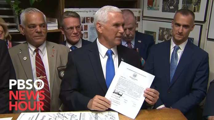 WATCH: Vice President Mike Pence files for President Donald Trump as candidate in NH primary