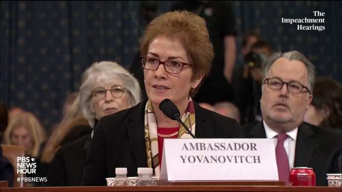 WATCH: Amb. Yovanovitch refutes falsehoods used in smear campaign that led to her ousting