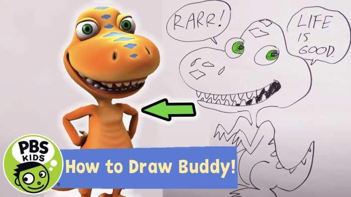 Dinosaur Train | How to Draw Buddy! | PBS KIDS