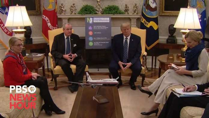 WATCH: Trump meets with New Jersey Governor Phil Murphy to discuss coronavirus efforts