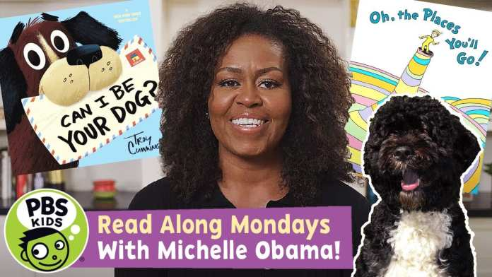READ ALONG with MICHELLE OBAMA! | Oh, the Places You'll Go! / Can I Be Your Dog? | PBS KIDS