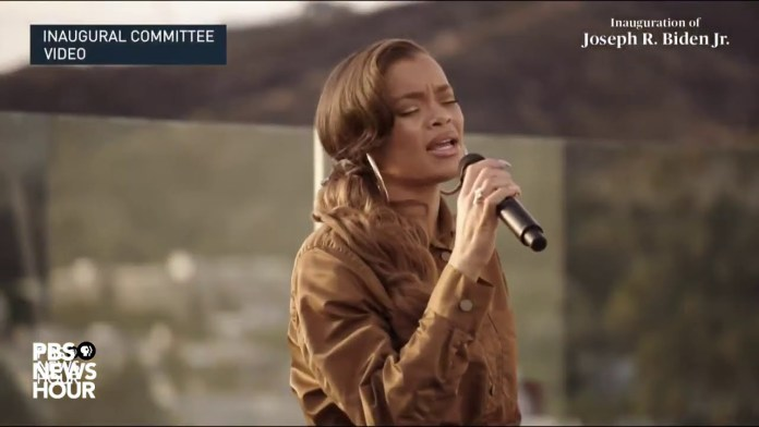 WATCH: Andra Day performs 'Rise Up' in Biden's virtual inaugural parade