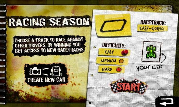 Paper Racer Track Options