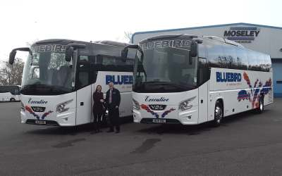 BLUEBIRD COACHES OF WEYMOUTH INVEST £500,000 IN NEW FUEL EFFICIENT VEHICLES.