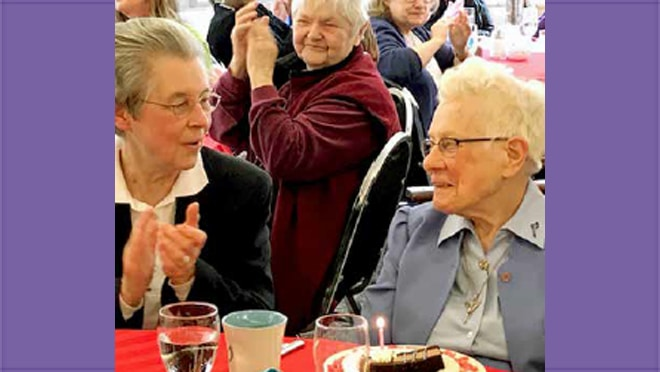Sister Rita Ferschweiler Celebrates Her 100th birthday