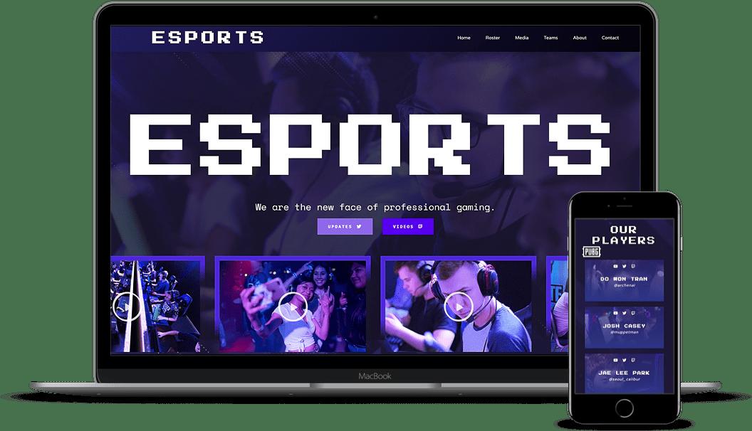 Esport demo website