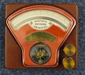 SWEHS000711a.jpg - Date c1900 - Weston Instrument Co., Newark, NJ, USA Weston's direct reading ammeter, 0-50 amps. 7151.
