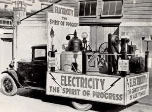 SWEHS 15.0.082.jpg - Date c1935 - Plymouth Corporation Electricity Department carnival float 'Electricity the spirit of progress'. Devon, Plymouth .