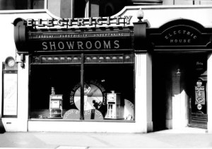 SWEHS 18.1.017.jpg - Date 1928 - Newton Abbot showrooms at Queen Street/The Avenue. Devon, Newton Abbot .