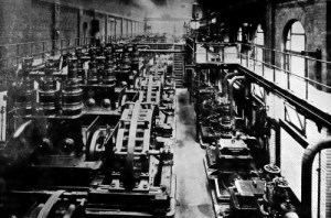 SWEHS 3.1.011.jpg - Date 1910 - Central Electricity Lighting Station engine room. Bristol, Temple Back From Bristol Corporation Elecltricity Department Booklet 1902..
