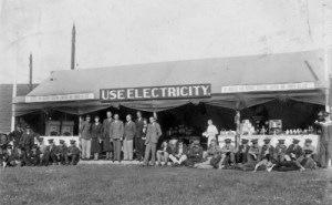 SWEHS 7.0.073.jpg - Date c1920 - Royal Cornwall Show. Cornwall, St. Austell St. Austell and District Electric Lighting and Power Co. Ltd. Display boards..