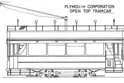 Plymouth Corporation Open Top Tram Car