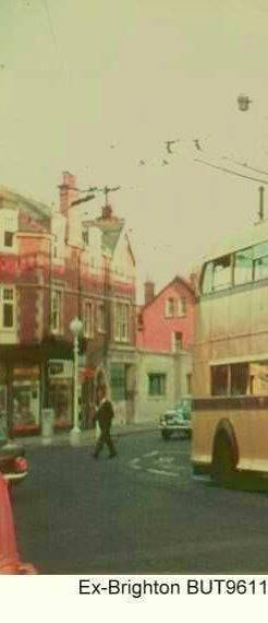 Trolleybuses in Bournemouth - ex-Brighton BUT 9611