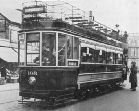 Tram No.108, built in 1921, seen here in Upper Parkstone