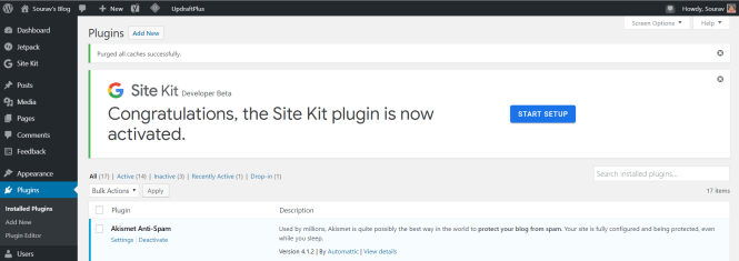 activation du kit google site wordpress