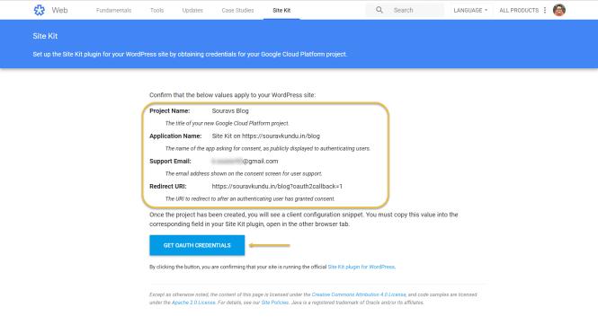 Plug-in Google Site Kit pour la configuration du client WordPress 2