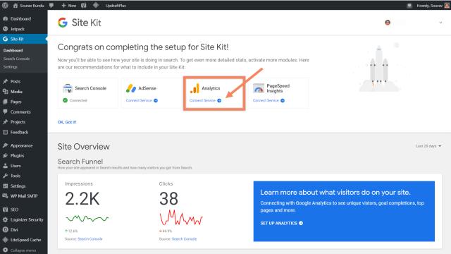 كيفية ربط google site kit و google analytics 0