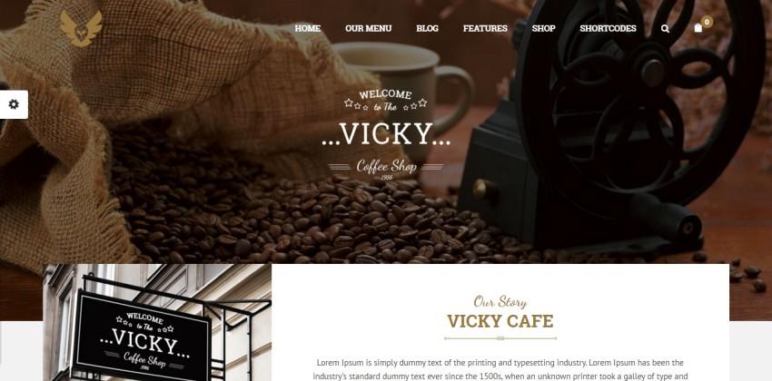 Вики - WordPress Ресторан & Кафе Тема