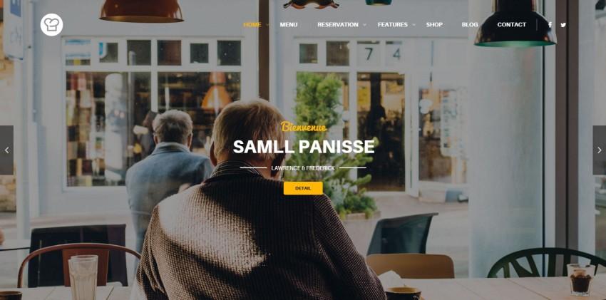 Ресторан WordPress Theme Resca