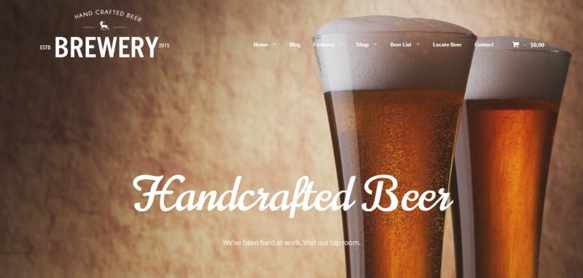 Пивоварня: тема WordPress для пивоваров