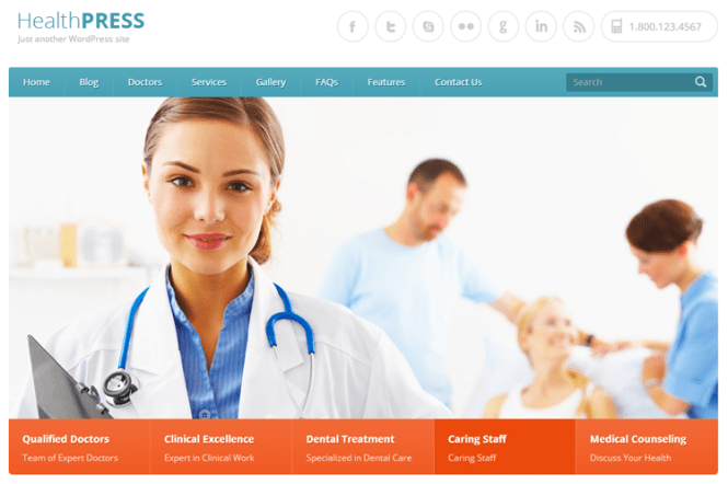 HealthPress Health & Medical Thème WordPress