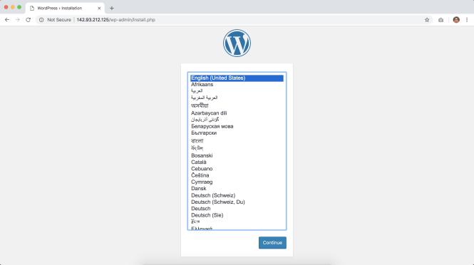 installation de wordpress dans digitalocean 1/2