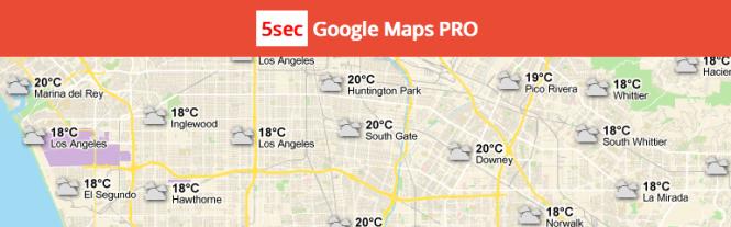 Meilleurs plugins de cartographie: 5sec Google Maps PRO