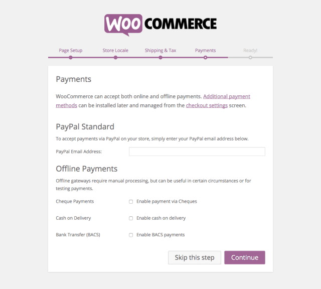 WooCommerce Setup: Payments