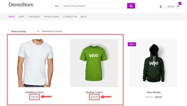ELEX WooCommerce Bulk Prices Applied