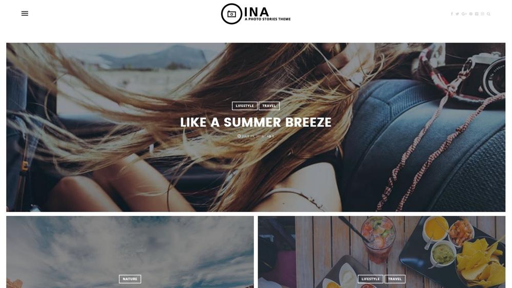 INA Photo Stories Тема WordPress