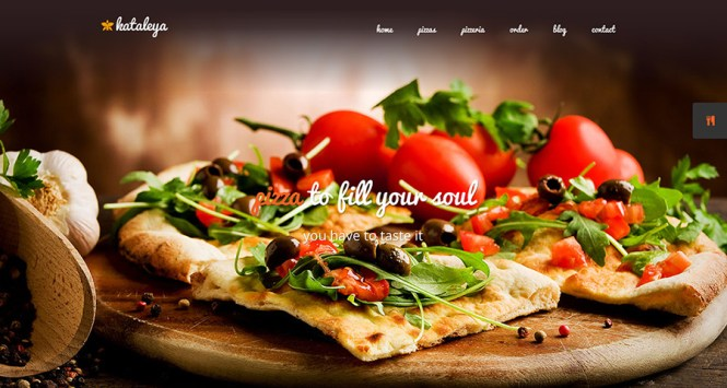 Kataleya Restaurant Pizza Coffee Thème WordPress