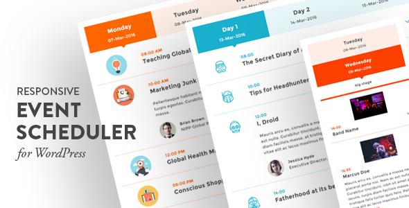 Planificateur d'événements réactif pour WordPress