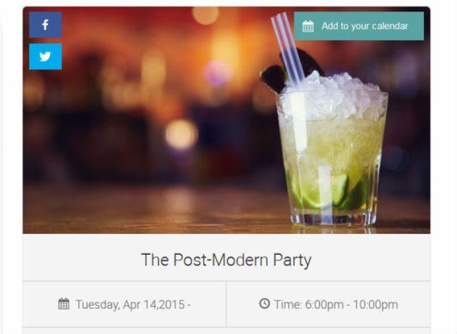 WP Events Calendar Events card screenshot