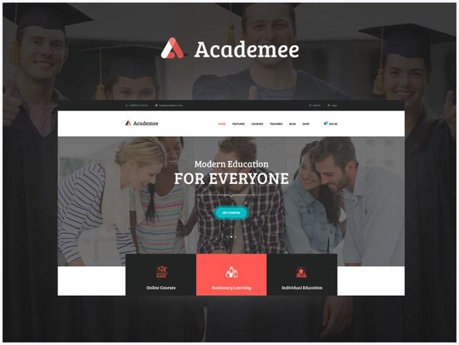 Academee - Centre d'éducation et cours de formation Thème WordPress