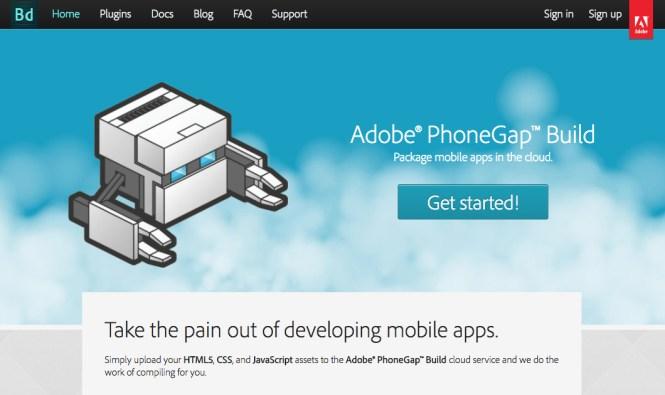 Version d'Adobe PhoneGap