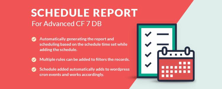 Расписание отчета для расширенного дополнения CF7 DB Premium