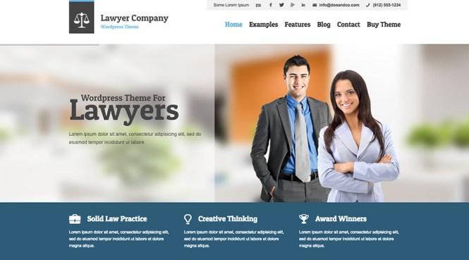 Thème WordPress professionnel pour juristes