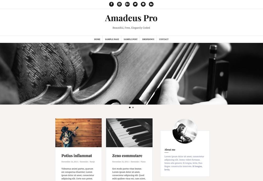 Amadeus Pro WordPress Blogging Theme
