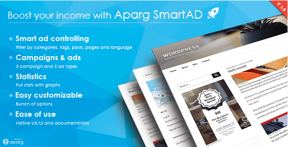 aparg smartad ad management plugin for wordpress |  Ads and PPC | sell ads