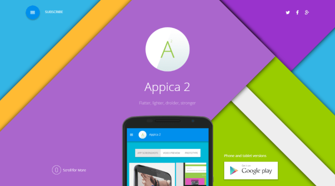 Appica 2 WordPress App Showcase Thème